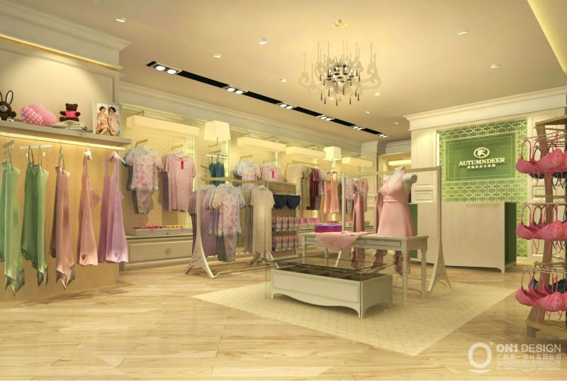 Retail Boutique Clothing Displays New Design Acrylic Retail