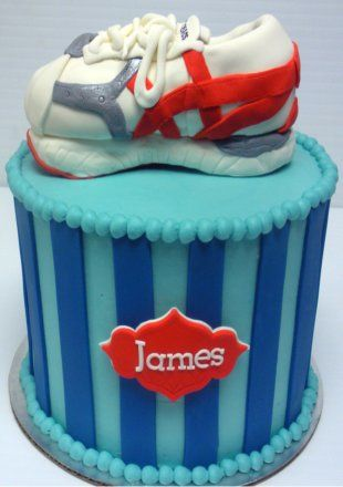 Running Shoe Birthday Cake from The Cupcake Shoppe in Raleigh