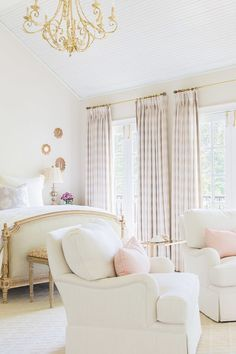 Light Color Room Decor Blush Bedroom And Gold Pink Curtains