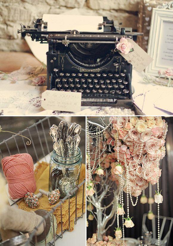 Decoración vintage para bodas