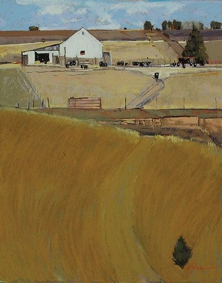 """Counting Cows: November by Dinah Worman Pastel ~ 30"""" x 24"""""""