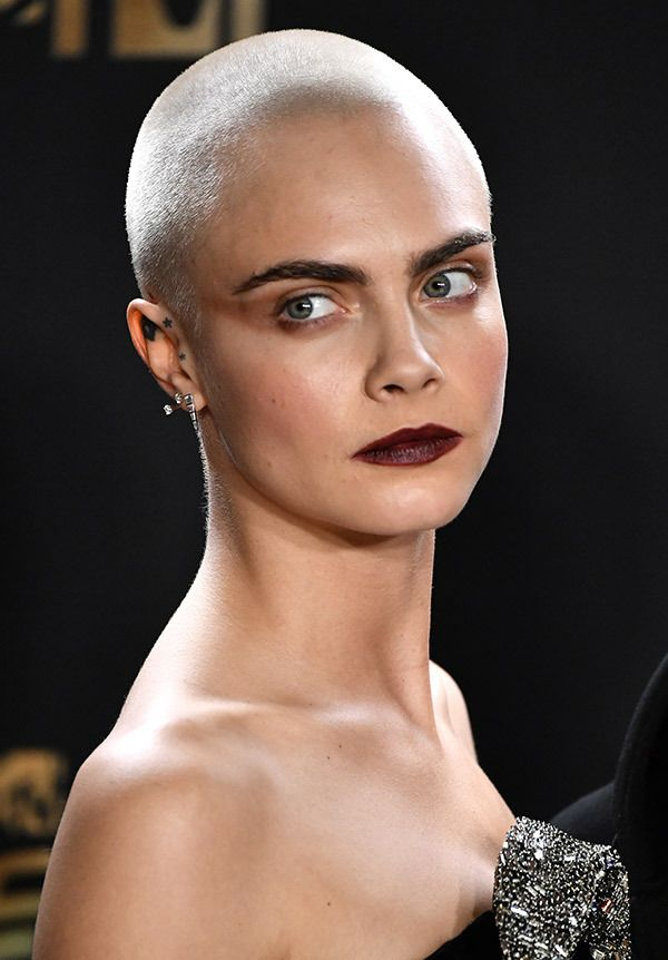 Image result for BALD cara delevigne