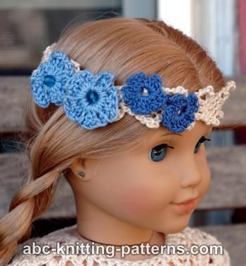 American Girl Doll Flower Headband Free Pattern Doll Clothes