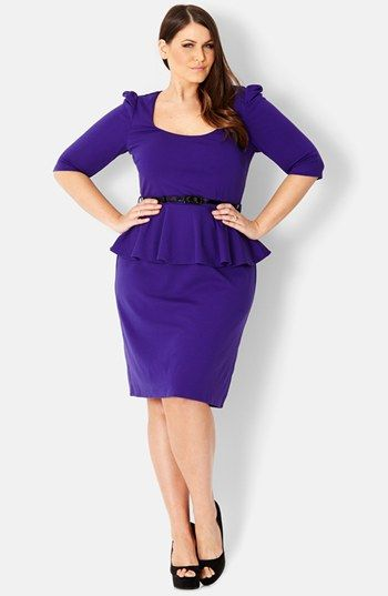 City Chic Peplum Dress (Plus Size) available at #Nordstrom YES in ...