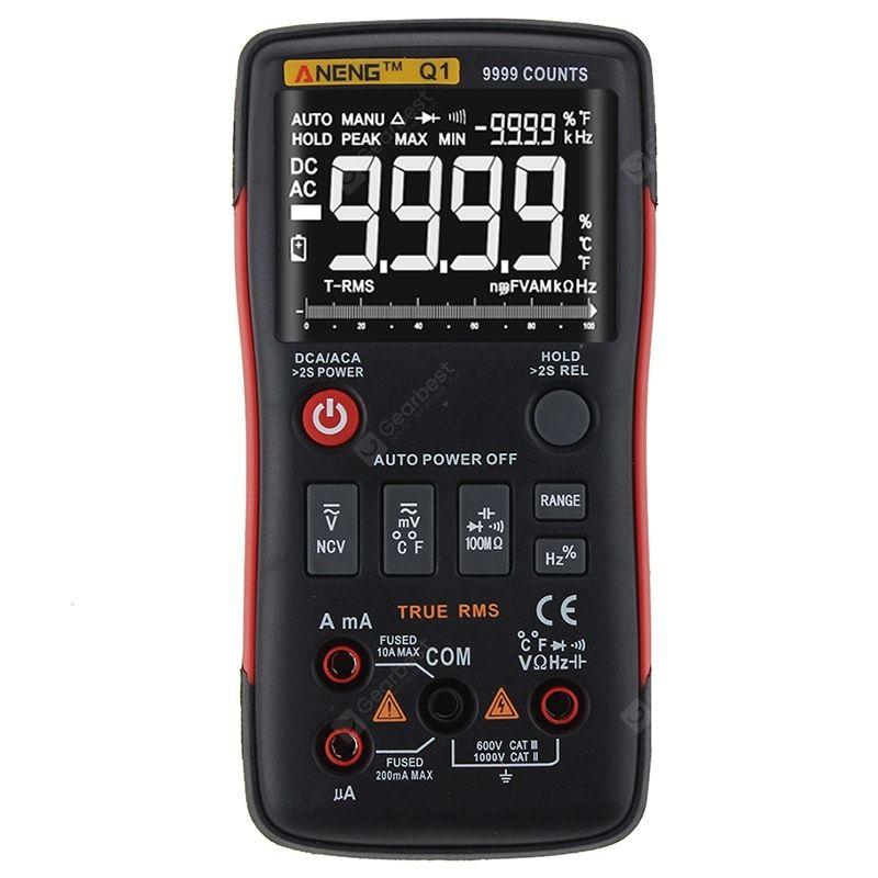 Aneng Q1 True Rms Digital Multimeter Counting Analog Bar Graph Ac Dc Voltage Ammeter Ac Dc Voltage Multimeter Bar Graphs