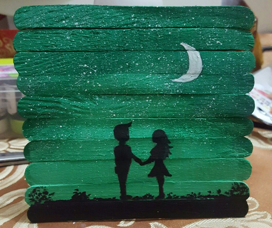 Pin by Rashmi on ice cream stick painting art | Art ...