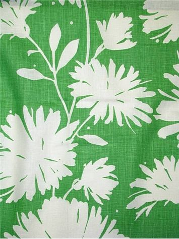 Gerbera Green   Kate Spade NY Fabric   Iconic Floral Print On 100% Linen  Fabric