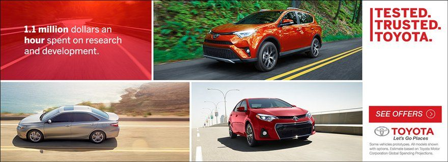 Tested Trusted Toyota, See Offers on New Toyota Vehicles