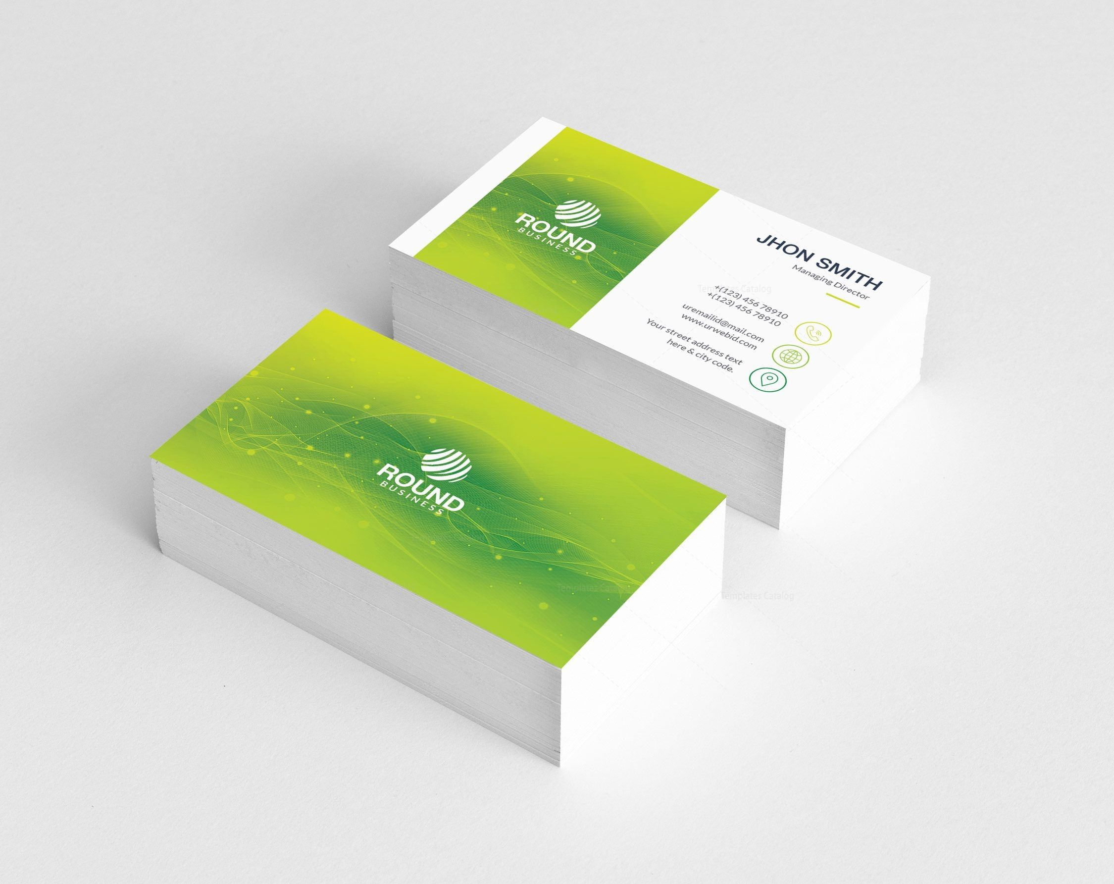 Green Stylish Business Card Business Cards Cleaning Business