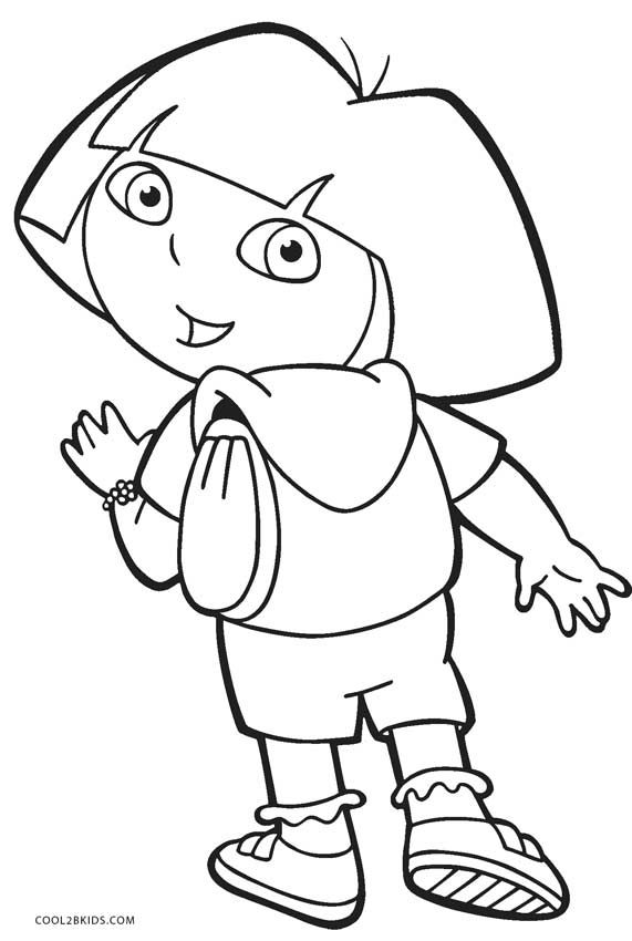 Free Printable Dora Coloring Pages For Kids | Cool2bKids ...
