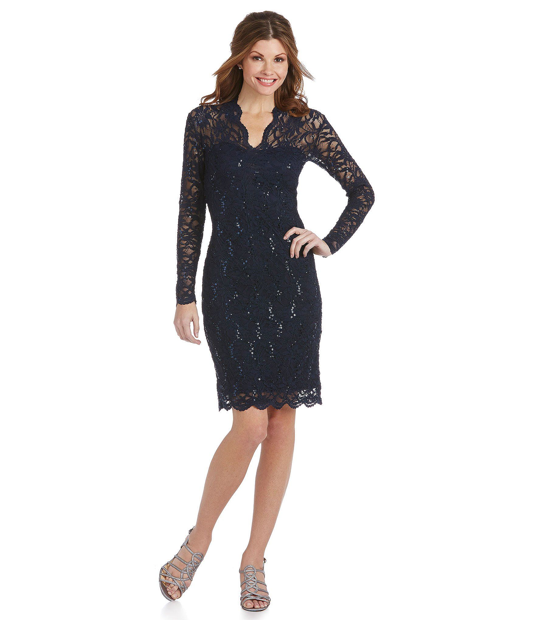 Dillards Floral lace dress, Dresses, Lace dress with