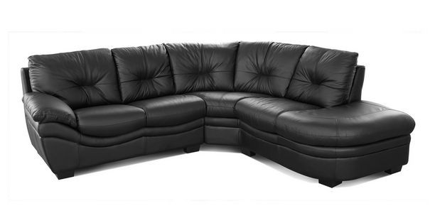 Status Leather and Leather Look Left Arm Facing Corner Sofa ...