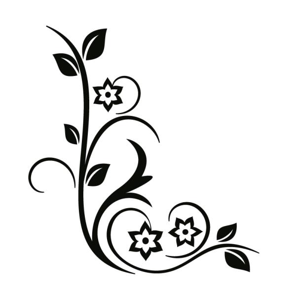 Vector Black Floral Ornaments Buscar Con Google