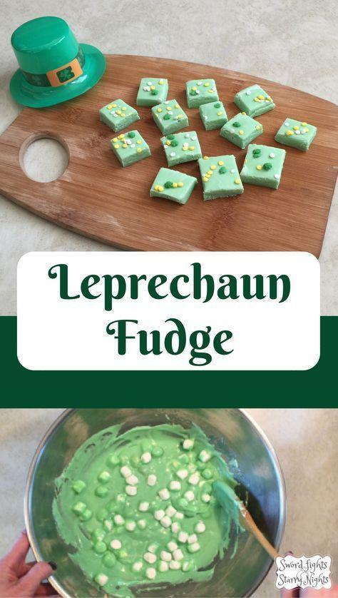Leprechaun Fudge- An easy, festive dessert for St. Patrick's Day