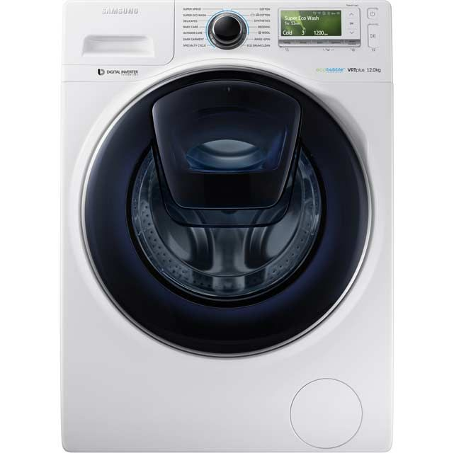 Samsung Addwash Ecobubble Ww12k8412ox 12kg Washing Machine With 1400 Rpm Graphite Front Loading Washing Machine Washing Machine Samsung Washing Machine