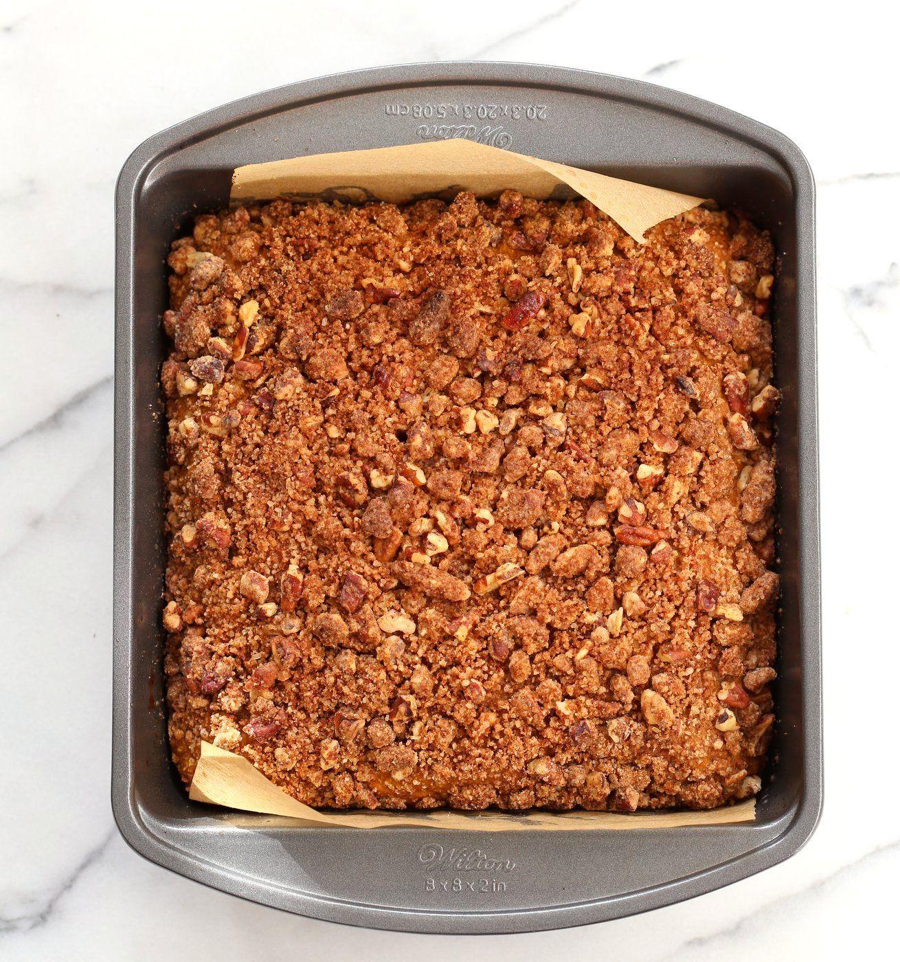 Vegan Pumpkin Coffee Cake with Pecan Crumb Recipe