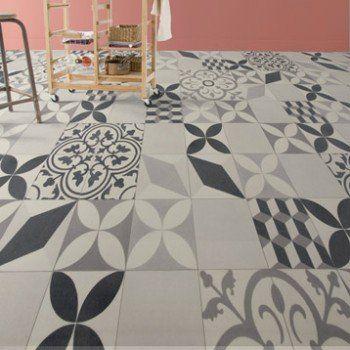 Sol Vinyle Textile Shalimar Grey Artens 4 M Leroy Merlin Sol Carreaux De Ciment Deco Sol Tapis Vinyl