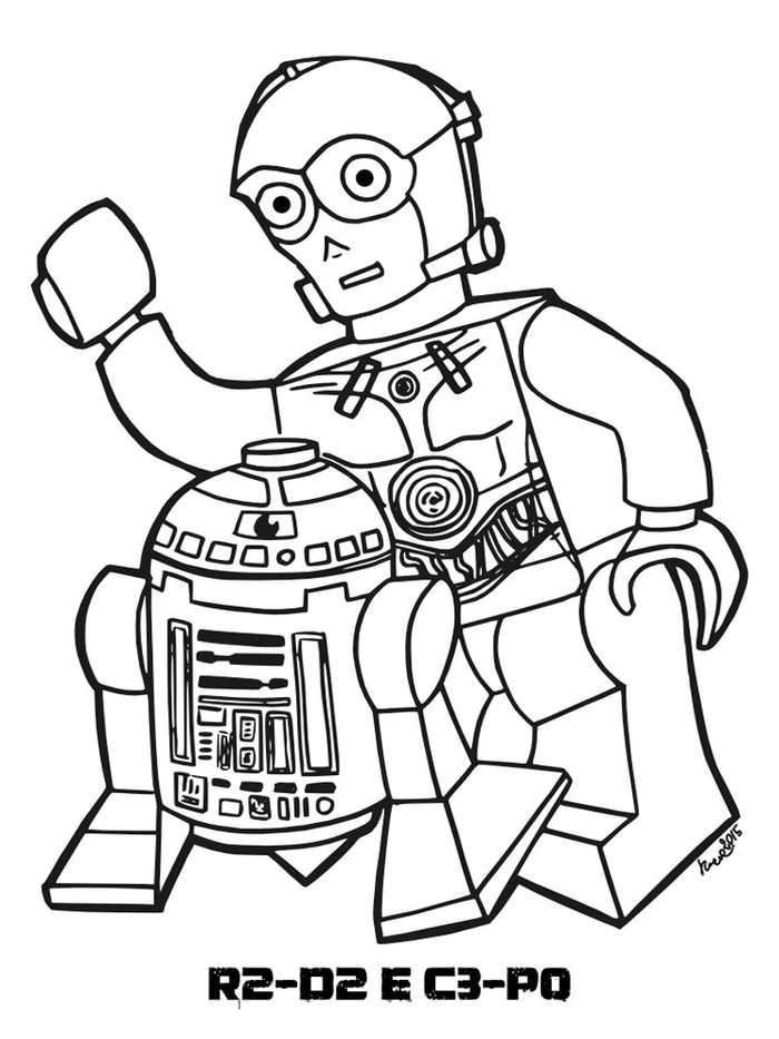 R2d2 C3po Lego Star Wars Coloring Pages Di 2020