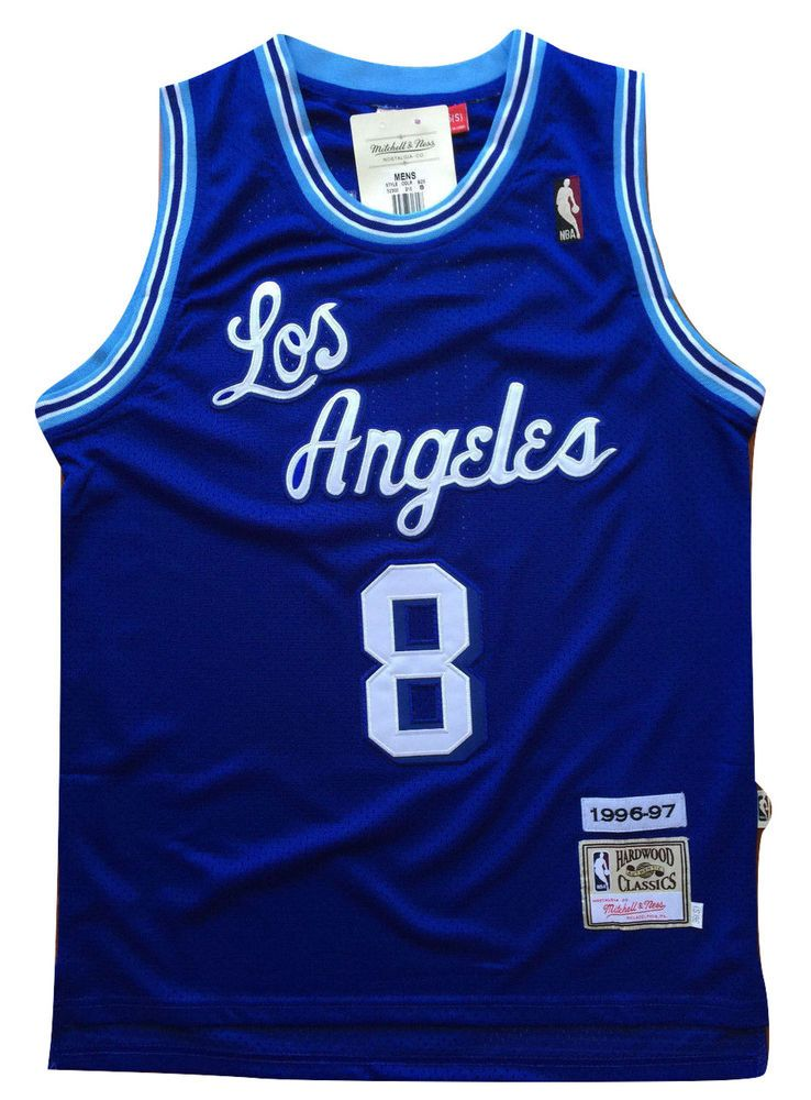 NBA Los Angeles Lakers Kobe Bryant Blue Throwback Classic Sewn Jersey   8  Nwt from  54.99 28d1a6e5d