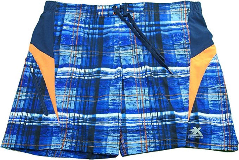 ZeroXposur Men's Size Medium Board Shorts/Swim Trunks, Navy Wake