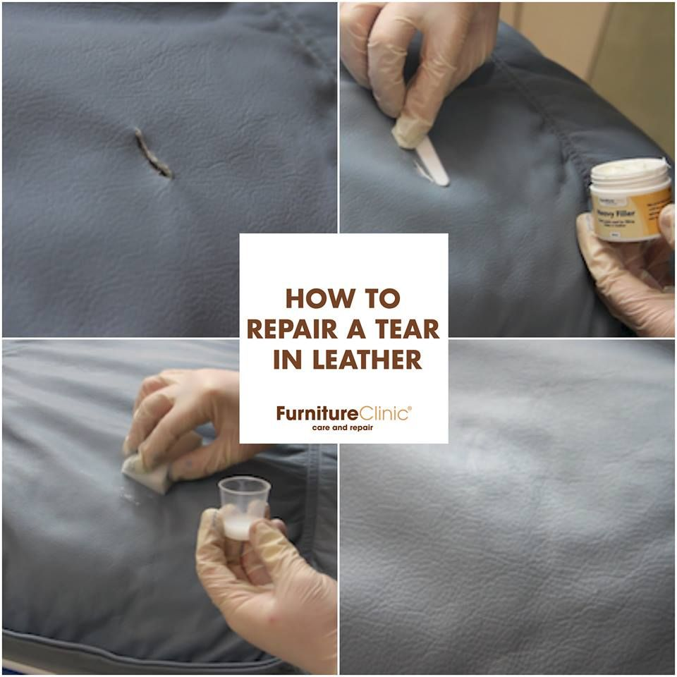 How To Repair A Tear In Leather Your Furniture Or Car Interior Check Out Our Easy Follow Guide See You Can Small