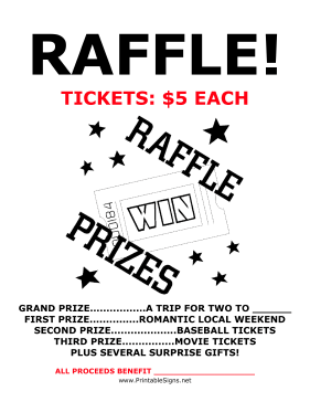 A Raffle Is A Great Way To Raise Money Because Many Different