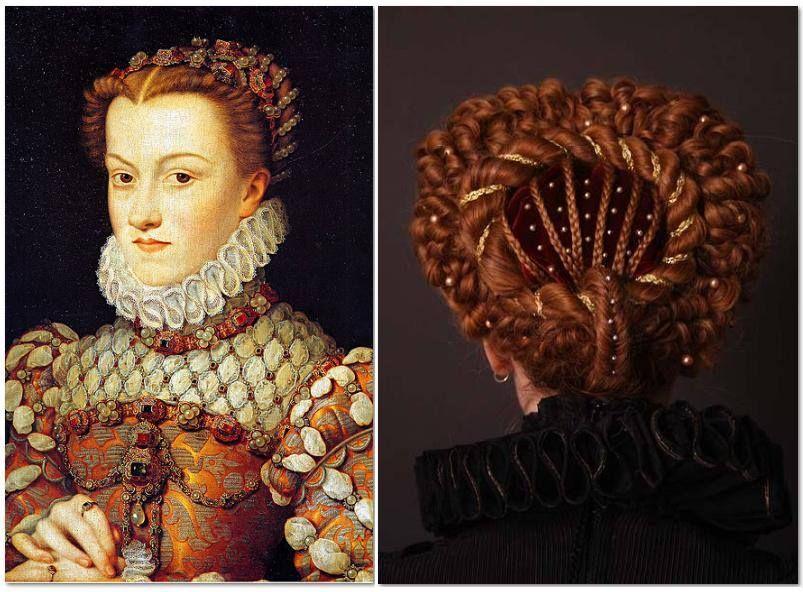Queen Hairstyles: Left Elisabeth Of Austria, Queen Of France, Daughter Of