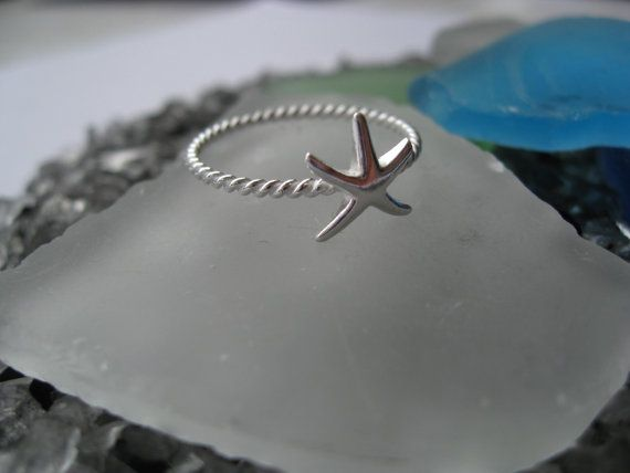 Starfish Ring - Sterling Silver Hi Polished on Etsy, $13.00
