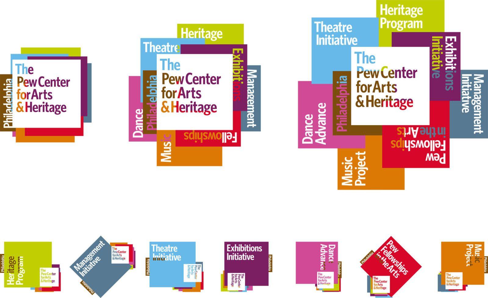 Pew Logos | Pew Center for Arts & Heritage | Johnson Banks