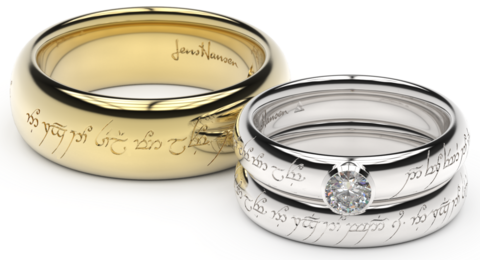 Elvish Inspired Engagement Rings Custom Wedding Rings Lotr Wedding Ring Wedding Rings