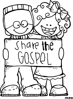 christian missionary coloring pages | Share the Gospel | LDS - Clip Art | Lds clipart, Kids ...