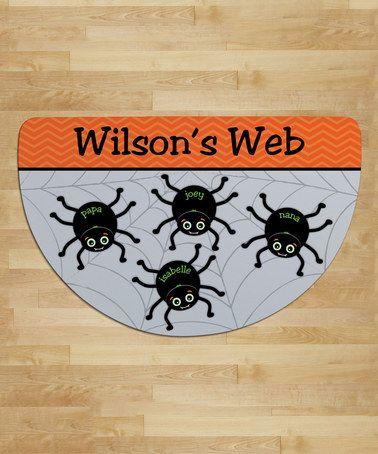 Spider Web Personalized Four-Name Round Indoor/Outdoor Doormat #zulily #zulilyfinds