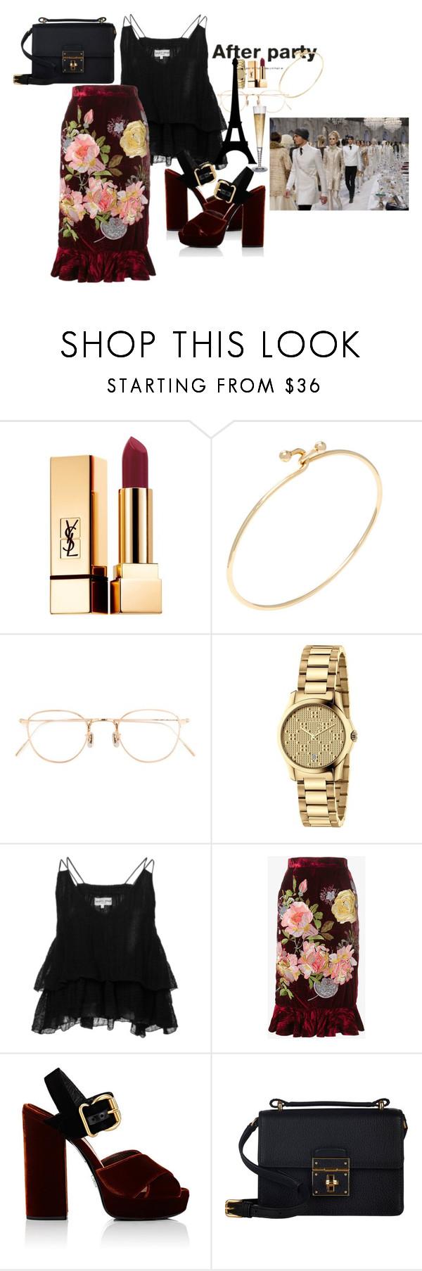 """Başlıksız #889"" by suana123 on Polyvore featuring moda, Yves Saint Laurent, Tiffany & Co., Eyevan 7285, Gucci, Apiece Apart, Alice Archer, Prada ve Dolce&Gabbana"