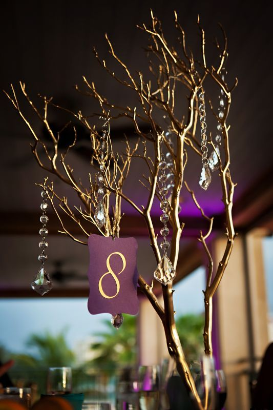Wedding branch centerpiece our centerpieces
