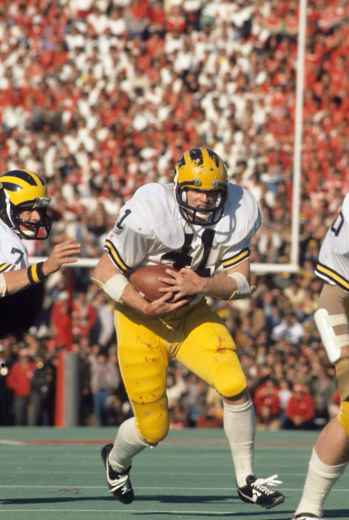 Rob Lytle Of Michigan During The 70 S Michigan Wolverines Football Michigan Football College Football Players