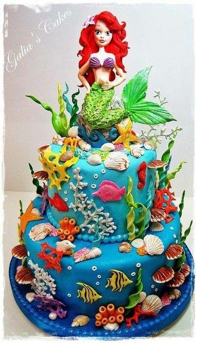 little mermaid cake google search crochet pinterest kuchen geburtstagskuchen und disney. Black Bedroom Furniture Sets. Home Design Ideas
