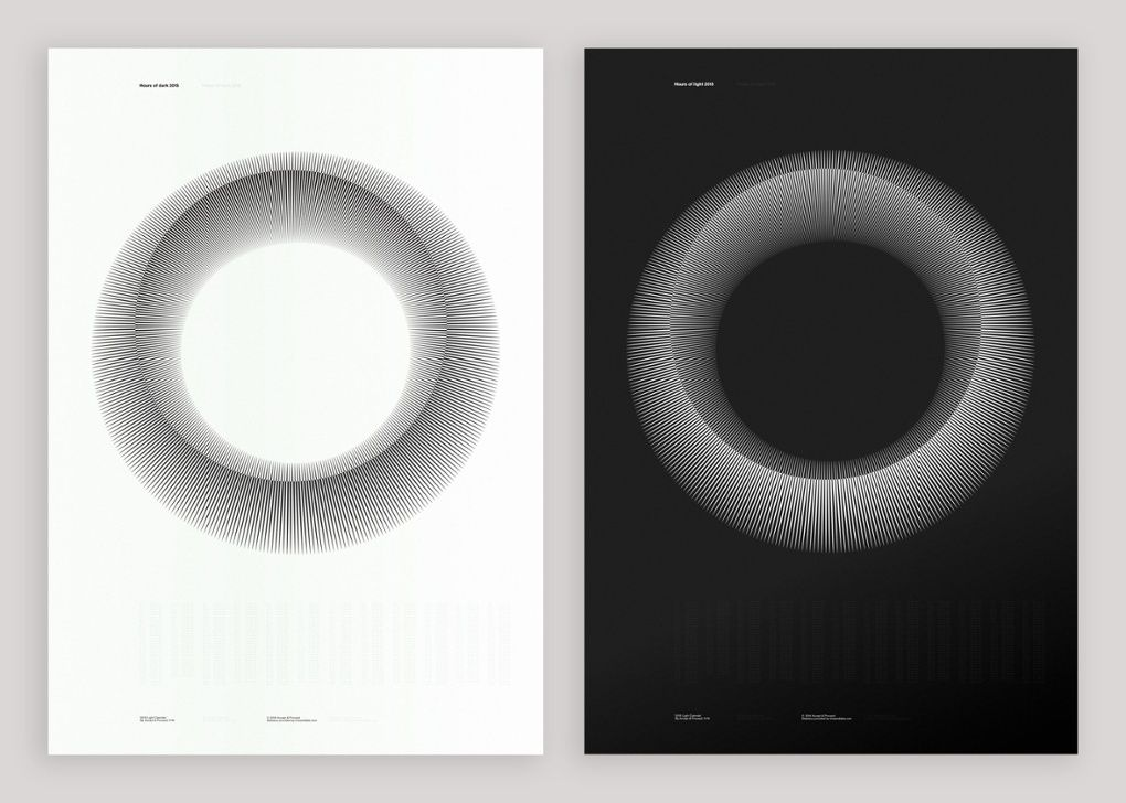 Calendars of light and dark that are data works of art - in pictures