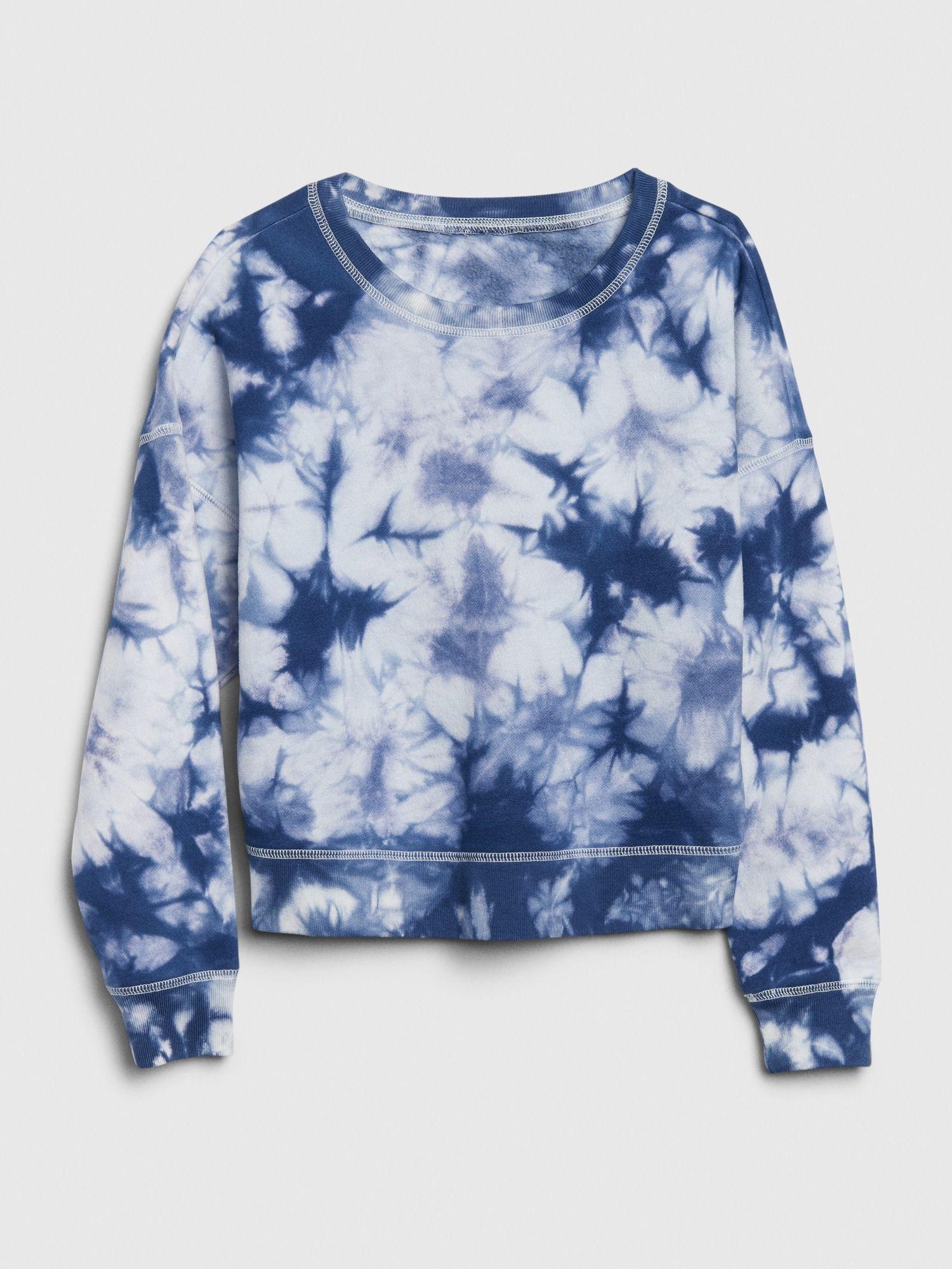 Gap Kids Tie Dye Sweatshirt Blue Tie Dye Tie Dye Outfits Tie Dye Sweatshirt Cute Tie Dye Shirts [ 2000 x 1500 Pixel ]