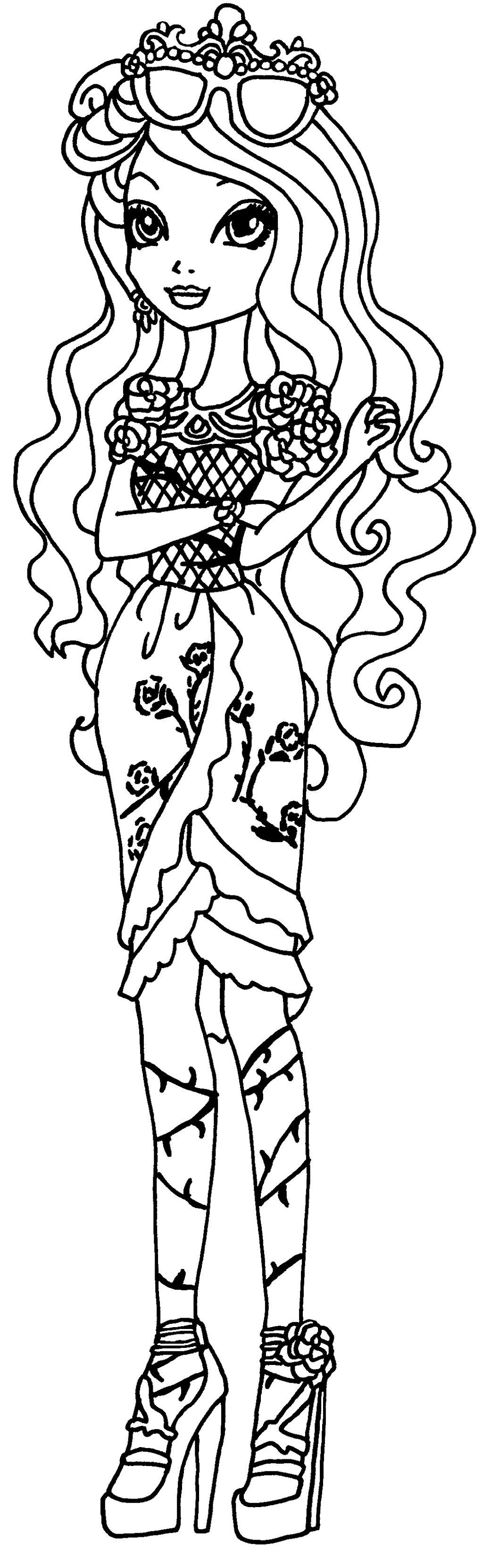 ever after high coloring pages raven queen briar beautyby elfkena