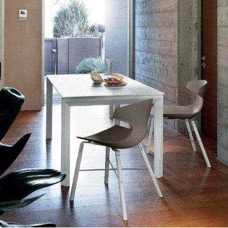 Chaise design en bois et acier vernis - Echo-L Domitalia® - Lot x2 ...