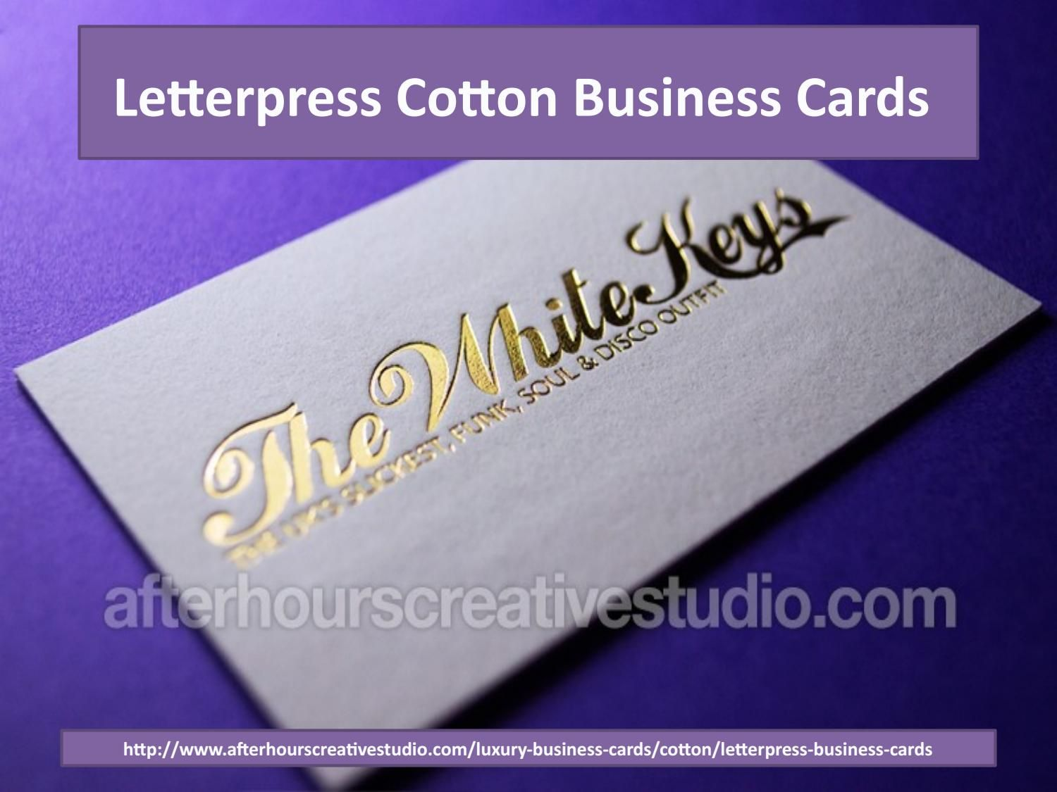 Buy Custom letterpress business cards with vintage printing and hot ...
