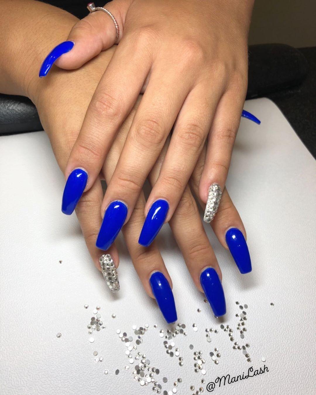 Royal Blue Nails 33 Amazing Royal Blue Nail Ideas From Instagram Royal Blue Nails Royal Blue Nails Designs Blue Acrylic Nails