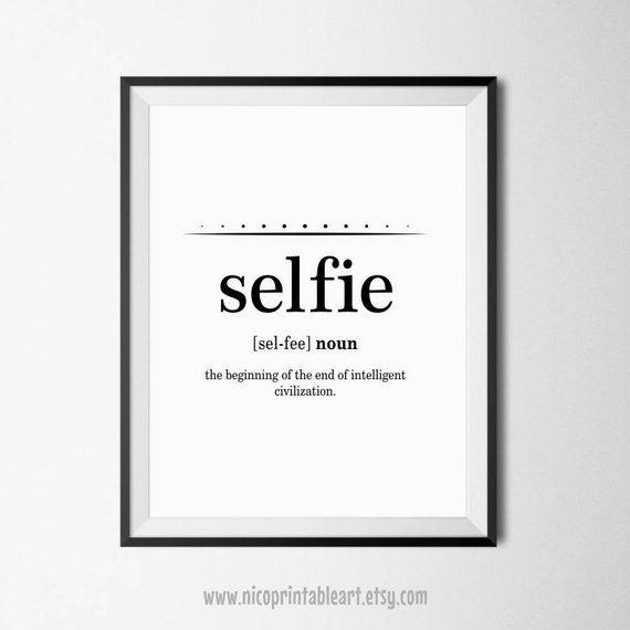 Bestfriend Gift, Funny Definition Wall Art, Word Definition Prints, Selfie Definition, Large Wall Ar