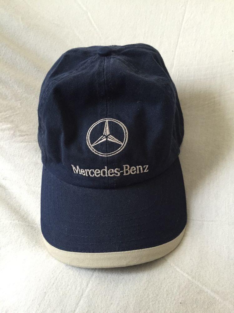 vintage classic navy blue mercedes benz baseball cap