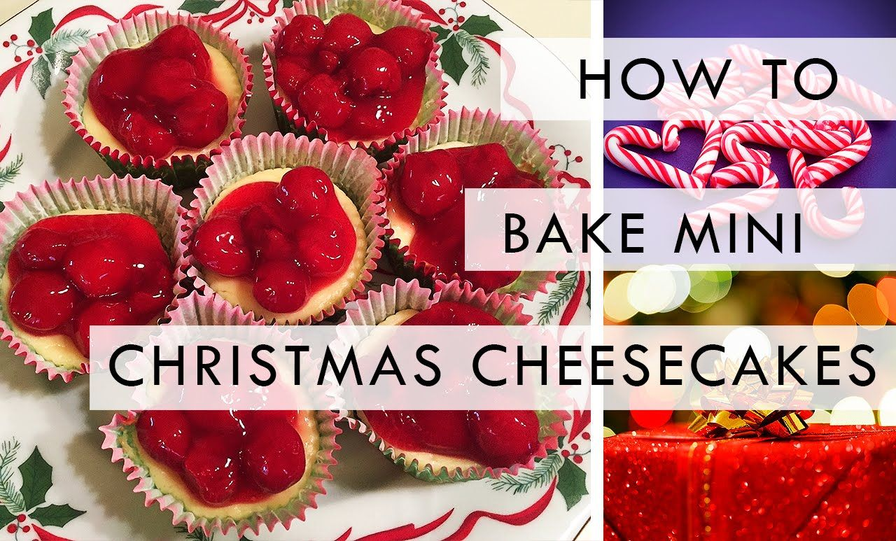 How To Bake: Mini Christmas Cheesecakes #food #baking #christmas #cheesecake #mini #recipe #easy #cookies #cherries #sweets #dessert #howto #holidays #winter #kitchen #festive #trendingseasons #youtube #video