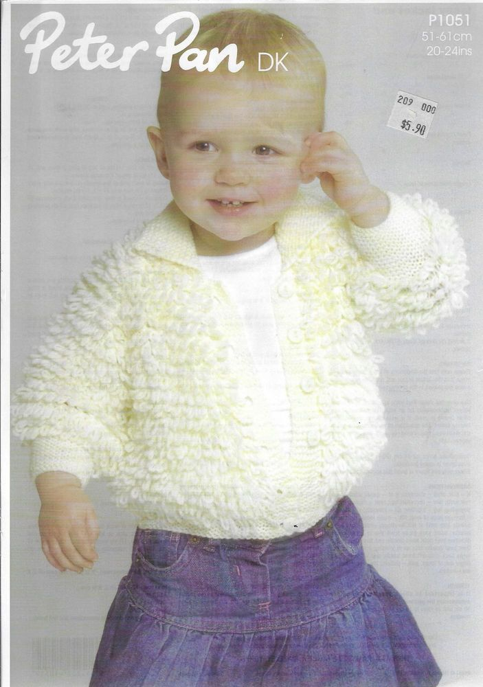 Details About Babytoddler Loopy Jacket Wendy P1051 Knitting Pattern