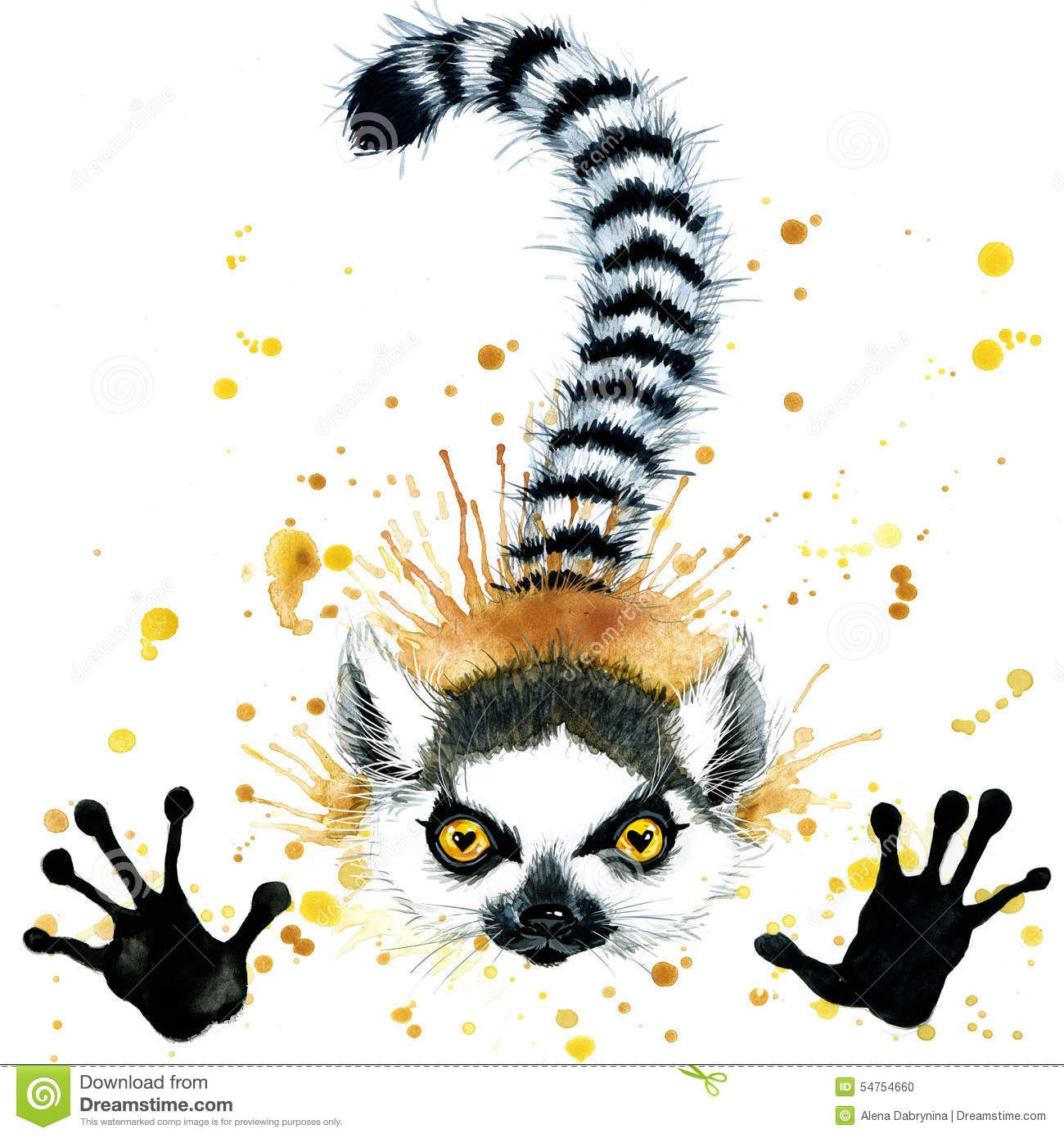 Jessi Lawson Artist I Love The Bright Colors: Lemur Tattoo - Google Search