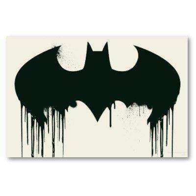 Batman Symbol Spraypaint Logo Poster Pinterest Spray Painting