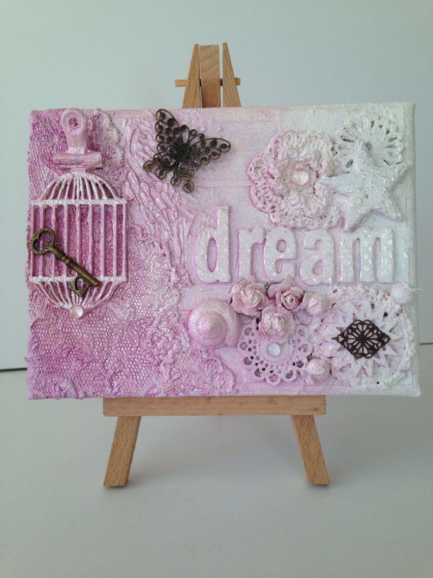 Mixed Media Canvas using Cosmic Shimmer & Dylusions spray mists and ...