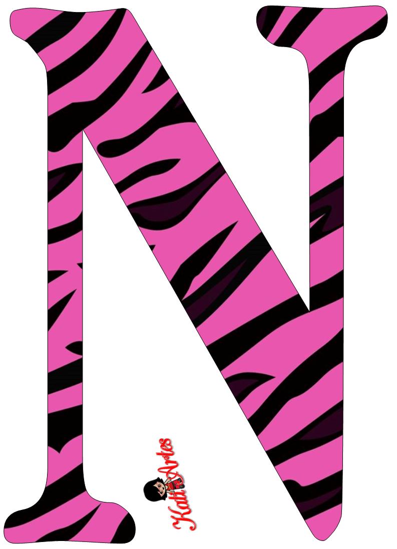 Pink Zebra Free Alphabet. Alfabeto Cebra Rosa.   alphabet ...